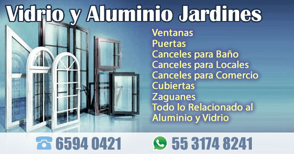 Vidrio y Aluminio Jardines