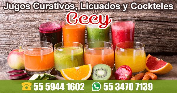 Jugos Curativos, Licuados y Cocteles Cecy
