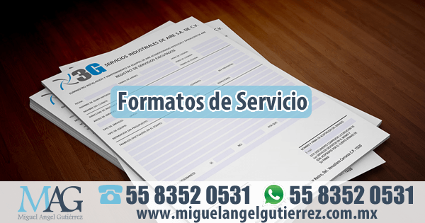 Impresión de Formatos de Servicio
