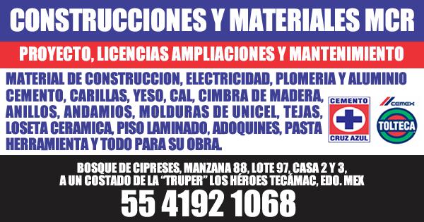 CONSTRUCCIONES Y MATERIALES MCR